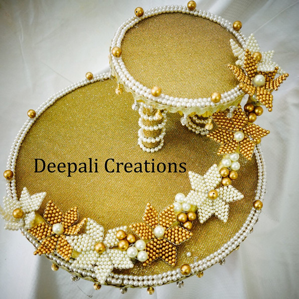 Golden Ring Tray By Deepali Creations