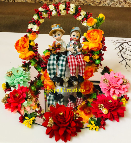Ring Ceremony Tray Couple By Deepali Creations.