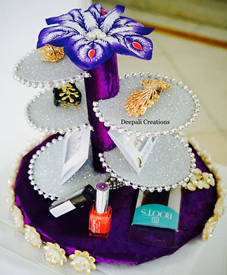 Designer Cosmetic Tray Packing By Deepali Creations