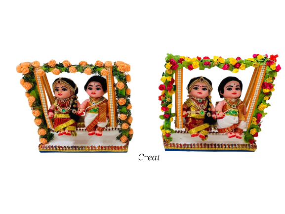 Couple Dolls on the Swing