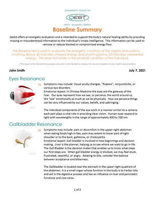 Baseline Summary
