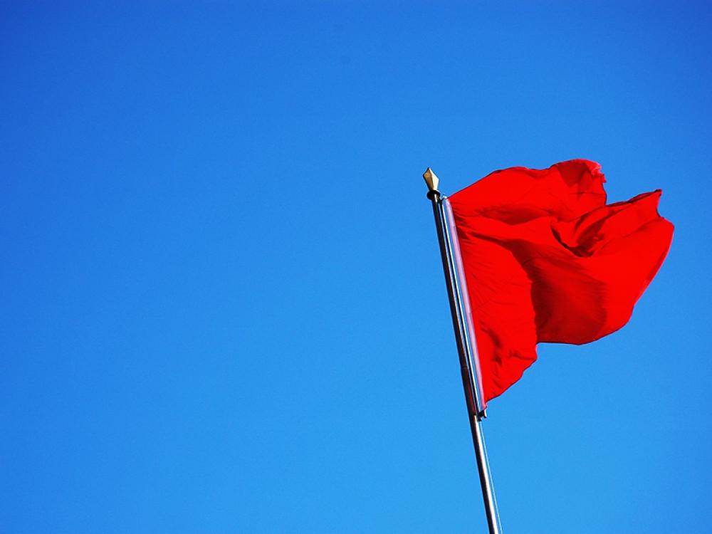 Bandeira vermelha energia
