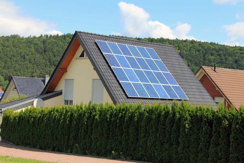 Telhado fotovoltaico