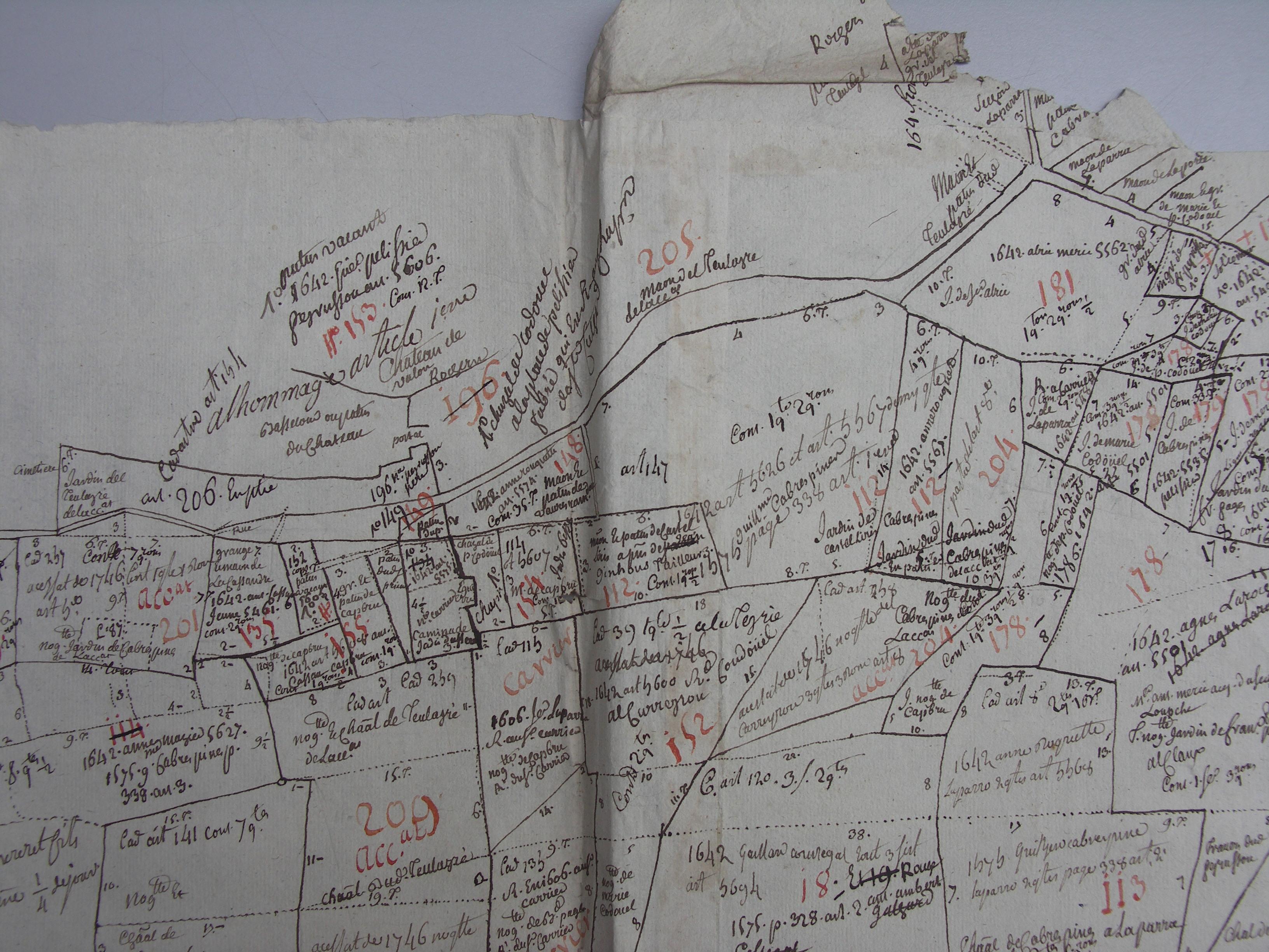plan cadastral 1750