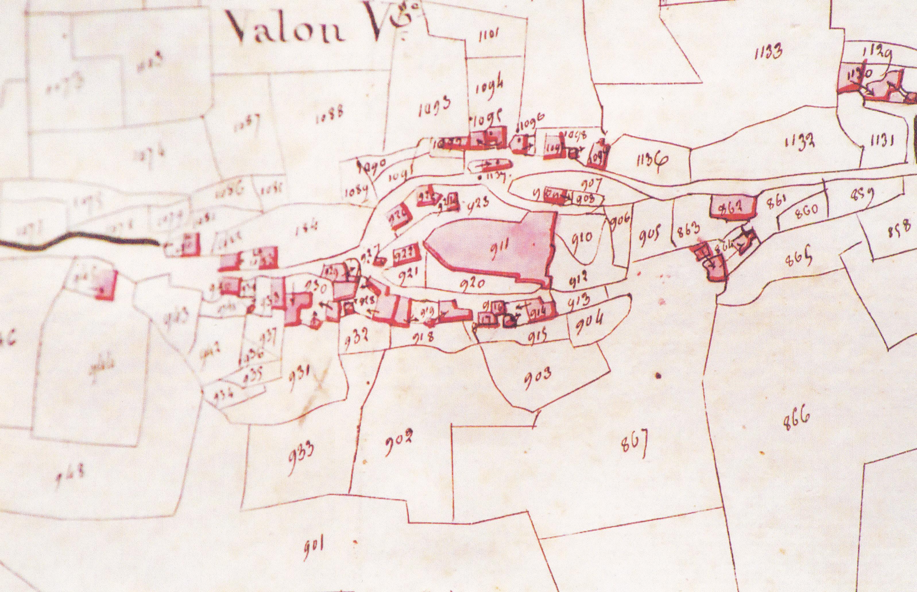 VALON CADASTRE 1830