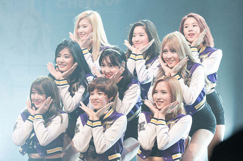 TWICE performing Cheer Up