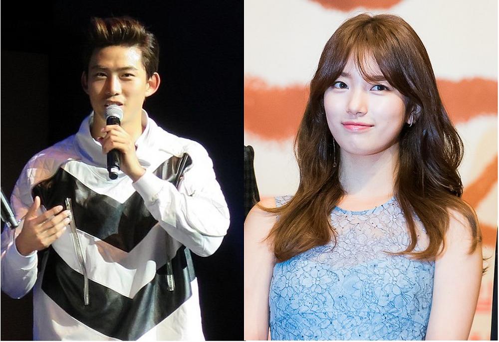 JYP artists Ok Taecyeon and Bae Suzy