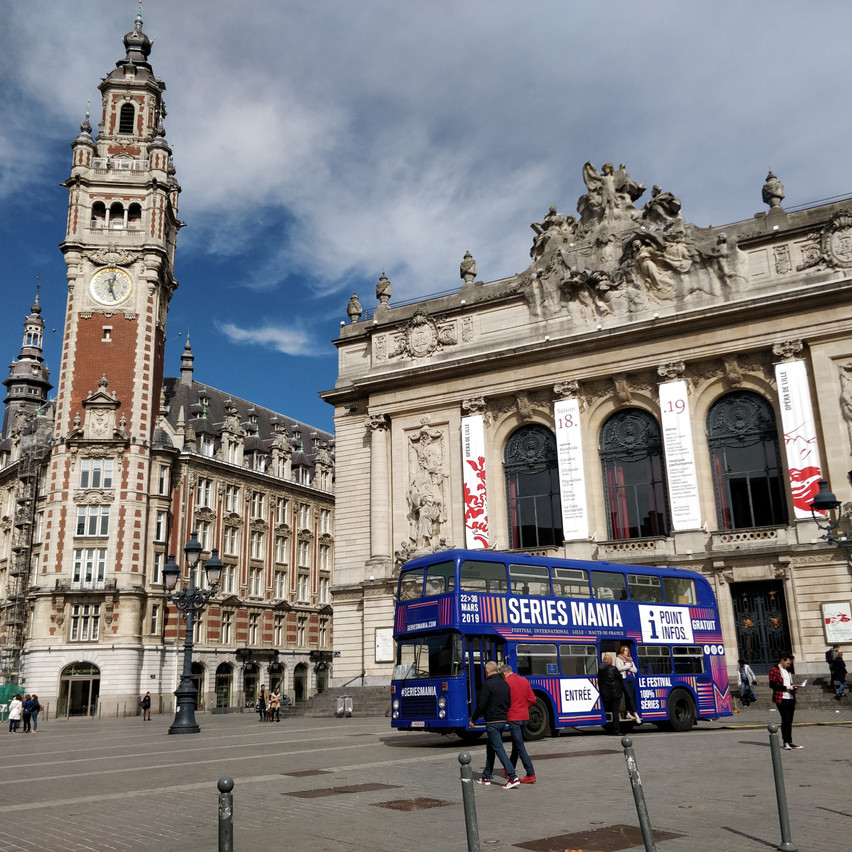 The festival info bus in Lille