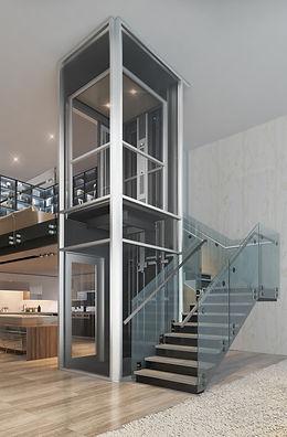 R2_Modern-style-Glass-Hoistway-Elevator(