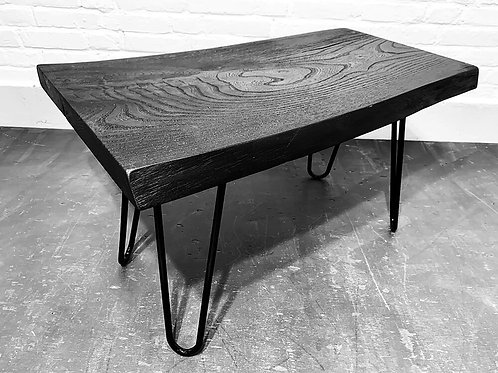 Black elm side table / coffee table