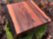 Handmade live edge cutting board made from elmwood