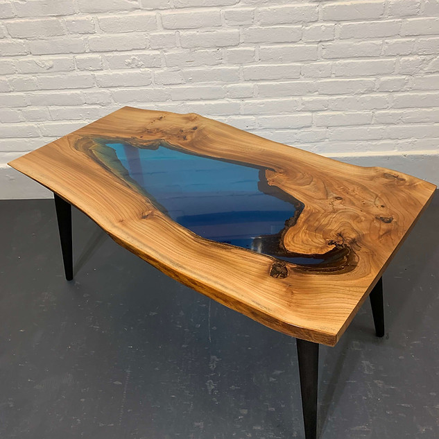 "Special epoxy ""lake"" table"