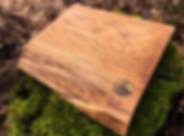 Handmade live edge cutting board made from oak