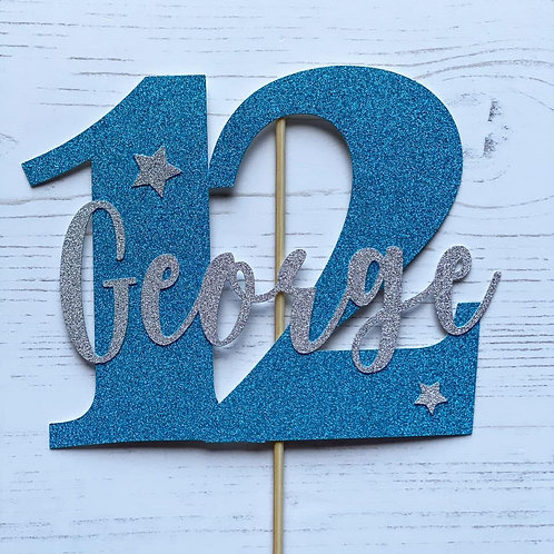 NUMBER  BIRTHDAY CAKE TOPPER