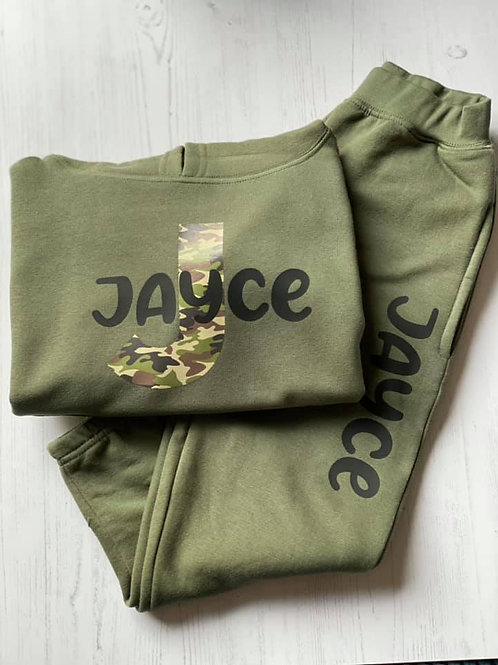 BABY PERSONALISED CAMO TRACKSUIT