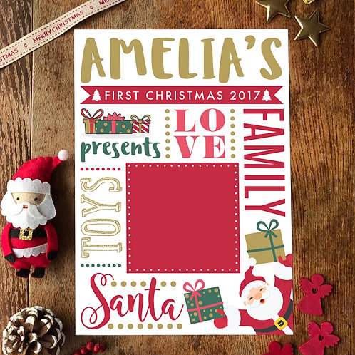 PERSONALISED NAME & PHOTO MY FIRST CHRISTMAS 2020