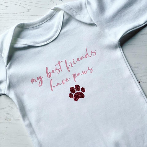 MY BEST FRIENDS HAVE PAWS ROMPER