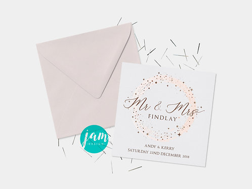 MR AND MRS PERSONALISED WEDDING CARD