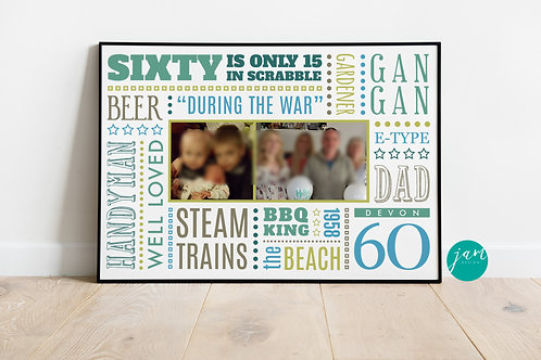60th BIRTHDAY PRINTS