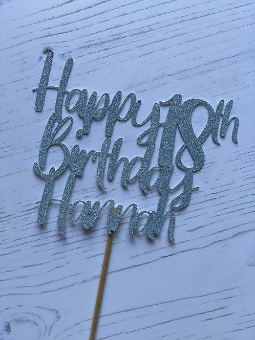 18TH BIRTHDAY CAKE TOPPER