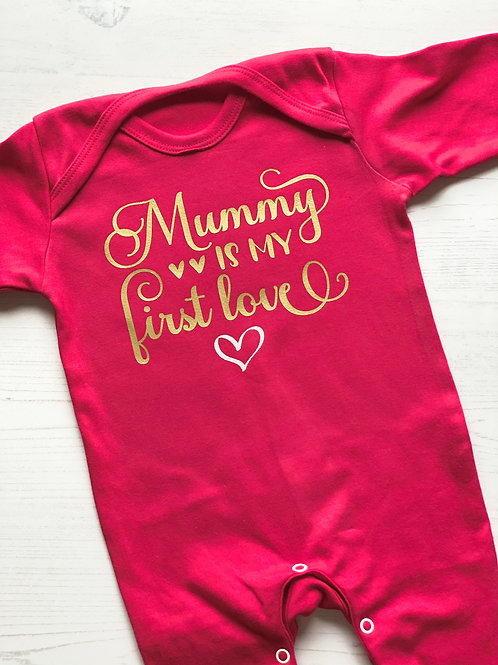 MUMMY IS MY FIRST LOVE ROMPER
