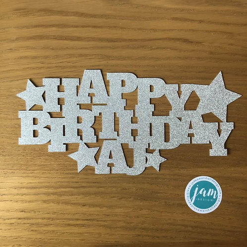 PERSONALISED STARS CAKE TOPPER