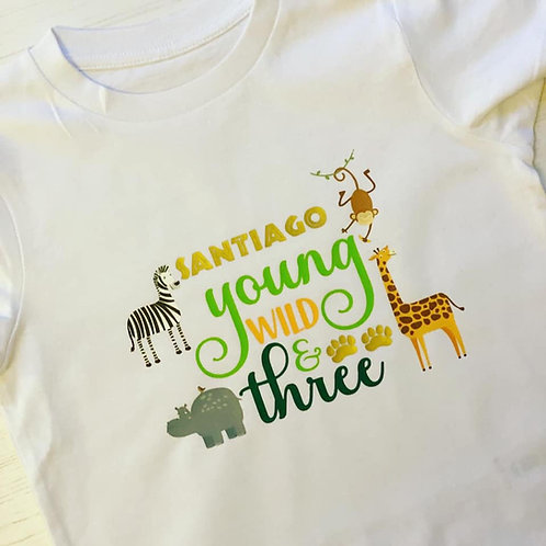 YOUNG, WILD AND THREE T-SHIRT