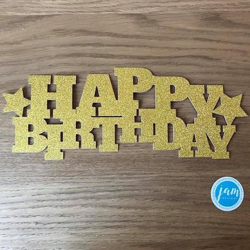 BIRTHDAY STARS CAKE TOPPER