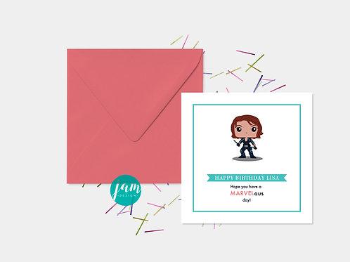 PERSONALISED MARVEL AVENGERS BIRTHDAY CARD
