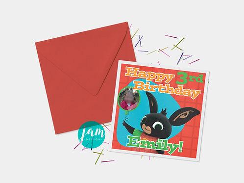 PERSONALISED BING BIRTHDAY CARD