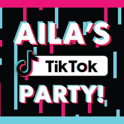 TIK TOK PARTY STICKERS