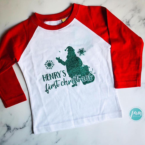 PERSONALISED FIRST CHRISTMAS T-SHIRT