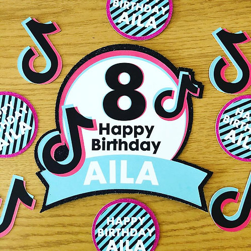 TIKTOK BIRTHDAY CAKE TOPPER