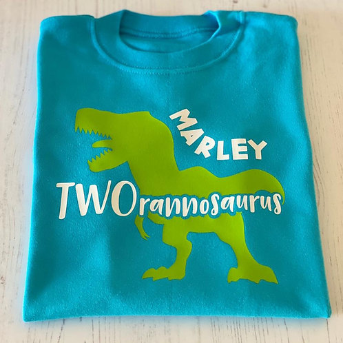 TWORANNOSAURUS PERSONALISED T-SHIRT