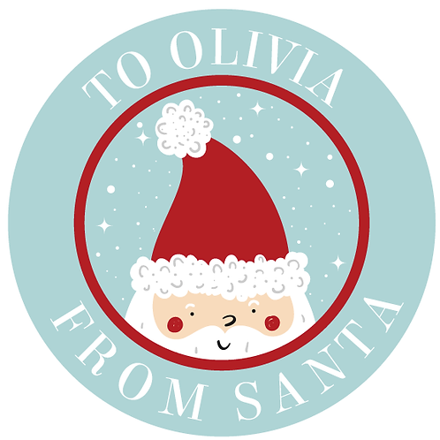 FROM SANTA STICKERS