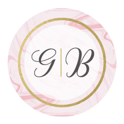 WEDDING INITIAL FAVOUR STICKERS