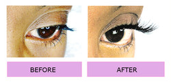 LASHES LONDON before and afterr