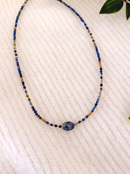 BLUE PEARL - NECKLACE