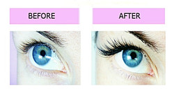 Before and After Lashes London mobile eyelash extensions