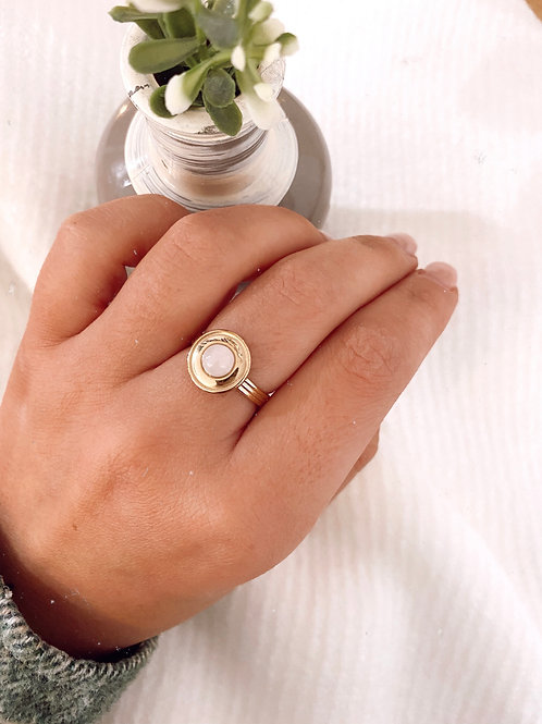 PEARL RING - LIGHT PINK