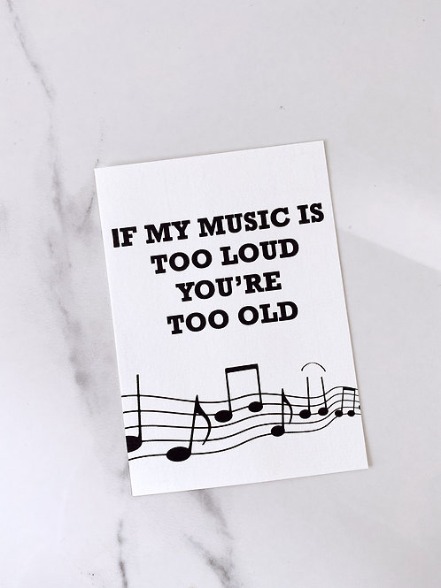 MY MUSIC - POSTCARD