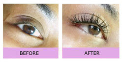 Lashes London before and after