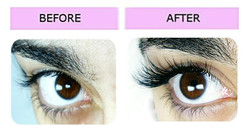 Lashes London volume extensions before after