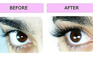Lashes London eyelash extension results