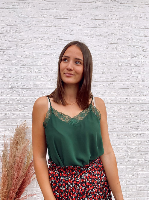 GOOD LACE TOP - GREEN