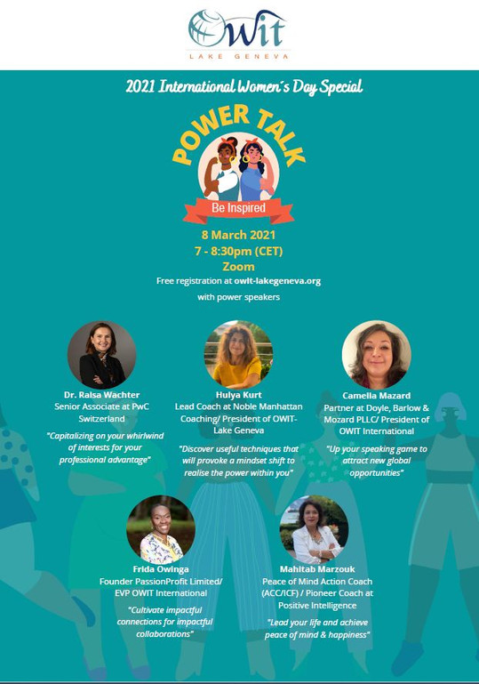 2021 INTERNATIONAL WOMEN'S DAY SPECIAL: OWIT+POWERTALK
