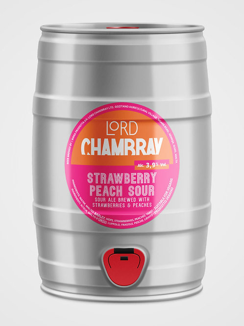 Strawberry Peach Sour Ale 5 L Keg