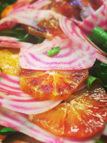 Candied beetroot with blood orange and watercress salad #healthy #catering _centrestagestudios