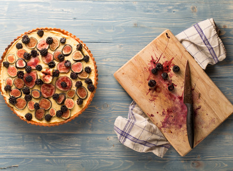 Blackberry and fig tart