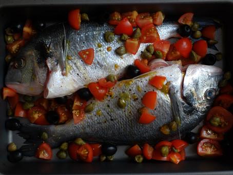 Mediterranean roast seabream